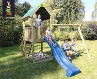 Fox play schommel met speeltoren Riverside met blauwe glijbaan
