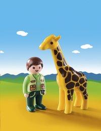 PLAYMOBIL 1.2.3 9380 Soigneur avec girafe-Image 1