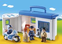 PLAYMOBIL 1.2.3 9382 Commissariat de police transportable-Image 1