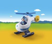 PLAYMOBIL 1.2.3 9383 Hélicoptère de police-Image 1