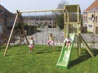 BnB Wood schommel met speeltoren Diest en appelgroene glijbaan-Afbeelding 2