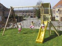 BnB Wood schommel met speeltoren Diest met gele glijbaan-Afbeelding 2