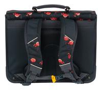 Stones and Bones boekentas Cedar + pennenzak Rowan Flamingos Navy 40,5 cm-Achteraanzicht