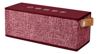 Fresh 'n Rebel luidspreker bluetooth Rockbox Brick Fabric Edition bordeaux-commercieel beeld