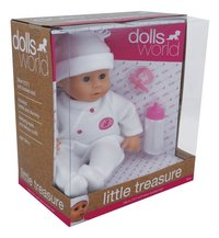 Dolls World zachte pop Little Treasure wit-Linkerzijde