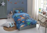 Good Morning Dekbedovertrek Space flanel 140 x 220 cm-Afbeelding 1