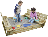 Forest-Style zandbak Combi met zitdeksel 150 cm-commercieel beeld
