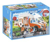 PLAYMOBIL City Life 70049 Ambulance en ambulanciers-Linkerzijde