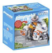 PLAYMOBIL City Life 70051 Urgentiste et moto-Côté gauche