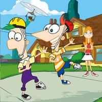 Ravensburger 3-in-1 puzzel Phineas en Ferb op geheime missie-Vooraanzicht