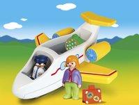 PLAYMOBIL 1.2.3 70185 Avion avec pilote et vacancière-Image 1