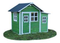 EXIT houten speelhuisje Loft 150 groen-Vooraanzicht