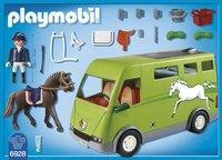 PLAYMOBIL Country 6928 Cavalier avec van et cheval-Arrière