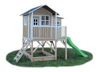 EXIT maisonnette en bois Loft 550 naturel-Côté gauche