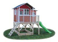 EXIT houten speelhuisje Loft 550 rood-Linkerzijde