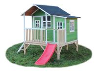 EXIT houten speelhuisje Loft 350 groen-Rechterzijde