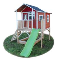 EXIT houten speelhuisje Loft 550 rood-Rechterzijde