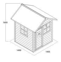 EXIT houten speelhuisje Loft 100 rood-Artikeldetail