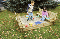 Forest-Style zandbak Combi met zitdeksel 150 cm-Afbeelding 3
