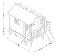 EXIT houten speelhuisje Loft 350 rood-Artikeldetail