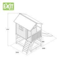 EXIT houten speelhuisje Loft 500 rood-Artikeldetail