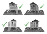 EXIT maisonnette en bois Loft 350 vert-Détail de l'article