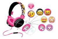 Emoji Hoofdtelefoon Flip & Switch zwart/roze-Vooraanzicht