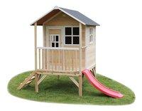 EXIT houten speelhuisje Loft 300 naturel-Vooraanzicht