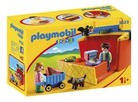 Playmobil 1.2.3 9123 Meeneem marktkraam