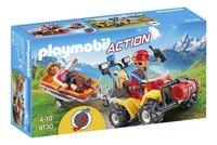 Playmobil Action 9130 Reddingsquad met draagberrie -Linkerzijde