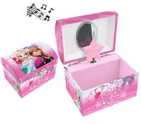 Juwelendoosje met muziek Disney Frozen roze