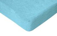 Romanette Drap-housse velours turquoise