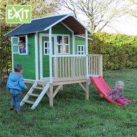 EXIT maisonnette en bois Loft 350 vert-Image 1