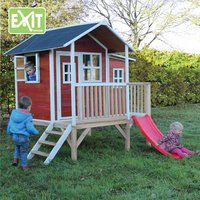EXIT houten speelhuisje Loft 350 rood-Afbeelding 1