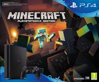 PS4 Slim console 500 Go noir + Minecraft PS4 Edition