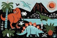 Mudpuppy puzzel Glow in het Dark Dinosaurs-Vooraanzicht