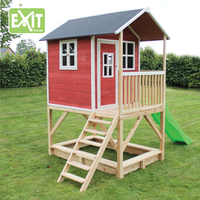 EXIT houten speelhuisje Loft 500 rood-Afbeelding 2
