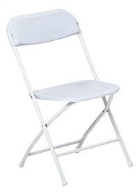 Chaise pliante blanc