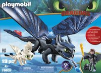 PLAYMOBIL Dragons 70037 Krokmou et Harold avec un bébé dragon-Avant