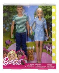 Barbie poupée mannequin  Barbie et Ken avec chiot-Avant