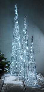 Ledverlichting piramide koel wit H 90 cm-Afbeelding 1