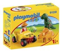 Playmobil 1.2.3 9120 Explorateur et dinosaures