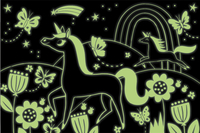 Mudpuppy puzzle Glow in het Dark Licornes-Détail de l'article