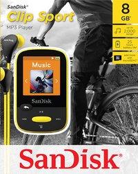 SanDisk mp3-speler Sansa Clip Sport 8 GB geel-Vooraanzicht