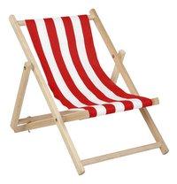 Pinolino chaise de plage Linus rayée kids rouge/blanc-Côté gauche