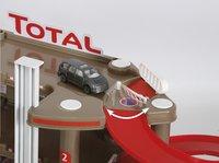 Station-service Super garage Total-Vue du haut