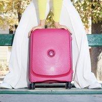 Delsey harde reistrolley Belmont Plus roze 55 cm-Afbeelding 1