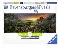Ravensburger panoramapuzzel Zon over IJsland-Vooraanzicht
