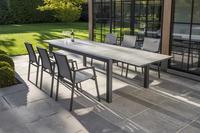 Ocean table de jardin à rallonge Lissabon charcoal L 220 x Lg 106 cm-Image 2