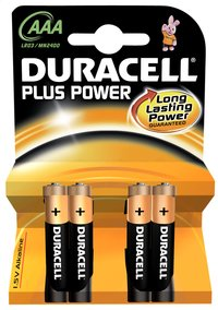 Duracell 4 AAA-batterijen Plus Power
